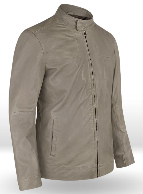 Croma Gray Washed & Wax Tom Cruise Fallout Leather Jacket
